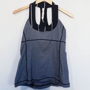 Lululemon Scoop Neck Racerback Tank Size 10 Gray